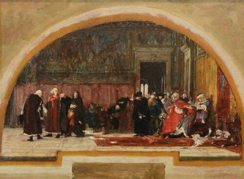 Nicolò Barabino, Carlo VIII e Pier Capponi, 1872 ca.,