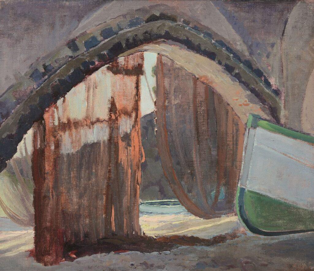 Emilio Bocciardo, San Fruttuoso di Camogli, 1930, olio su tela, cm 35 x 39