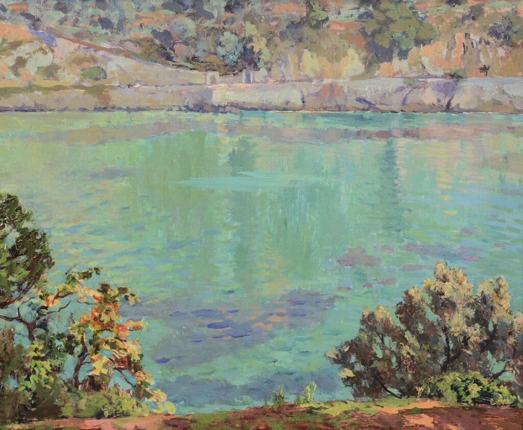 """Emilio Bocciardo, Paraggi. Estate 1929"""", olio su cartone, cm 38 x 46"""